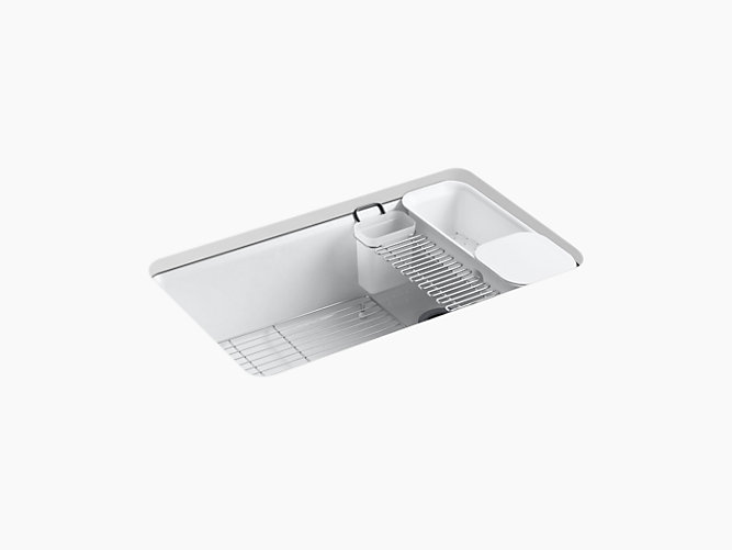 K-5871-5UA3 | Riverby Under-Mount Kitchen Sink with Accessories ...