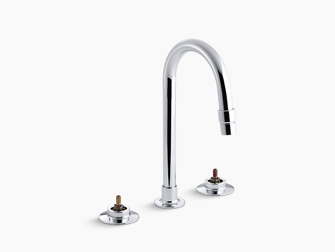 Triton Widespread Commercial Bathroom Sink Faucet With Gooseneck - Kohler bathroom faucet aerator