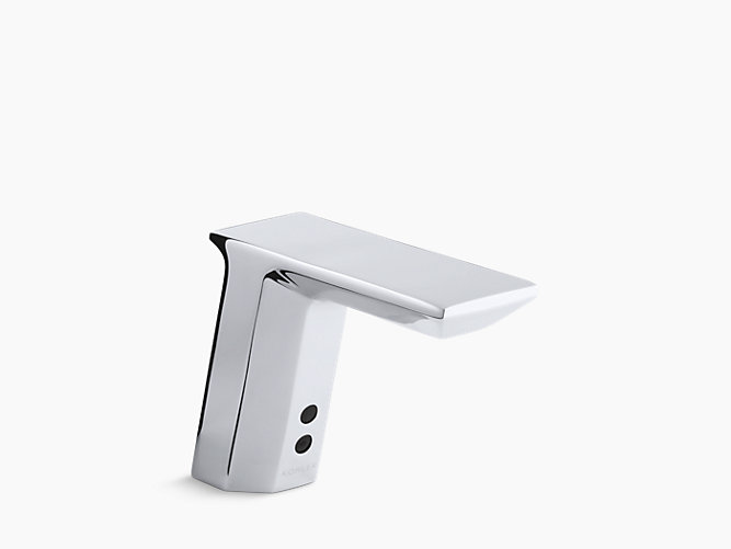 KOHLER Geometric Singlehole Touchless DCpowered - Commercial bathroom faucets touchless