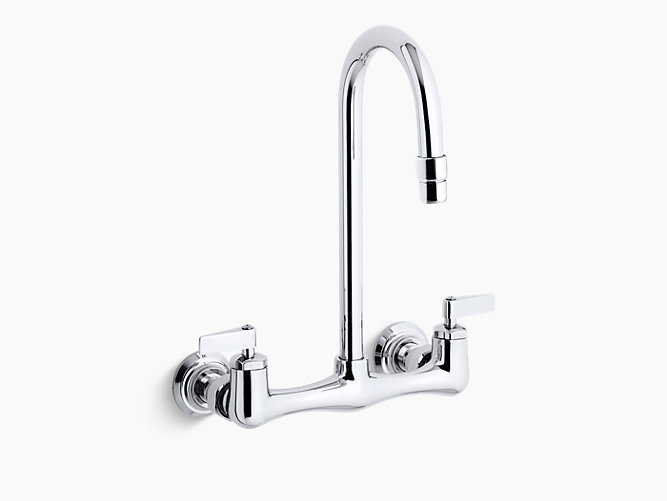 K-7320-4 | Triton double lever handle utility sink faucet with
