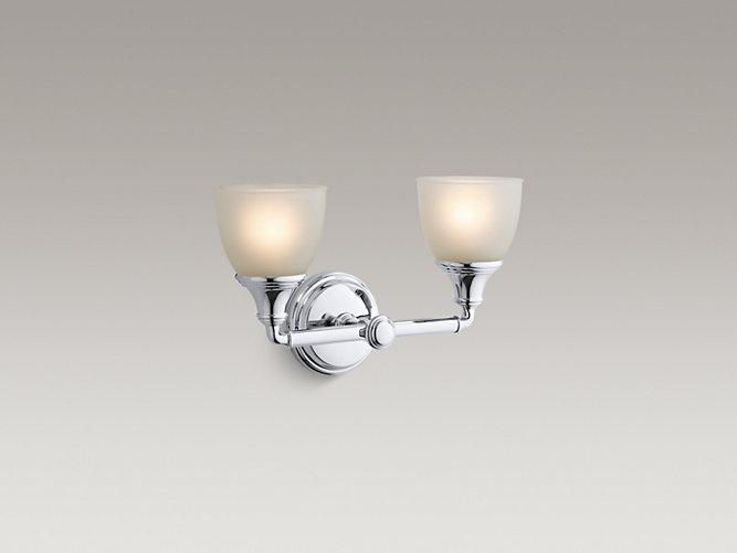 Devonshire Double Wall Sconce K KOHLER - Kohler devonshire bathroom lighting