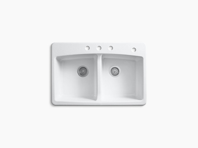 Brookfield Top-Mount Kitchen Sink with Four Faucet Holes | K-5846 ...