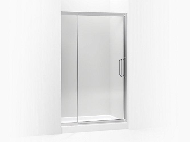 Lattis Semi Frameless Pivot Shower Door 38 Inch Glass K 705822 L