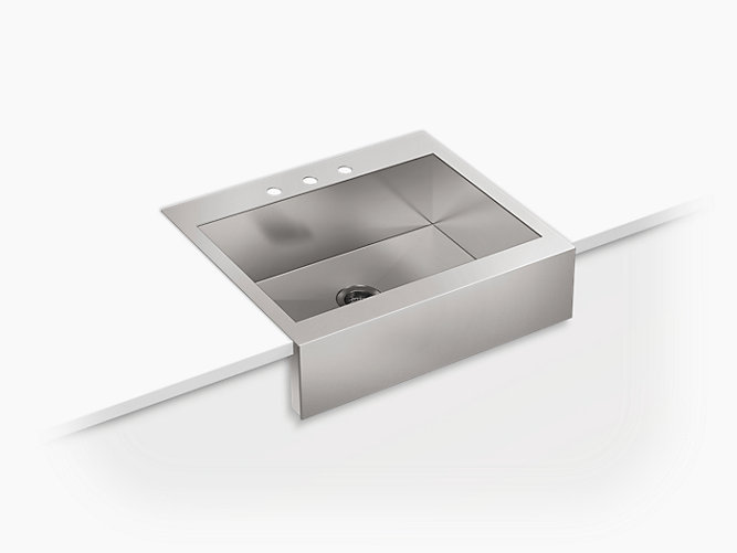 K 3935 3 Vault Apron Front Top Mount Sink With Three Faucet Holes Kohler Canada