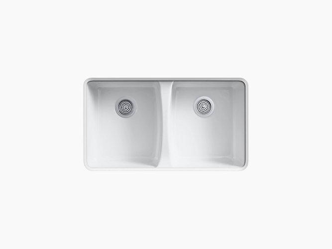 Deerfield Under-Mount Kitchen Sink with Five Faucet Holes   K-5873 ...