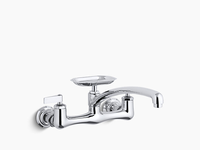 Clearwater double lever handle sink supply faucet with 12\