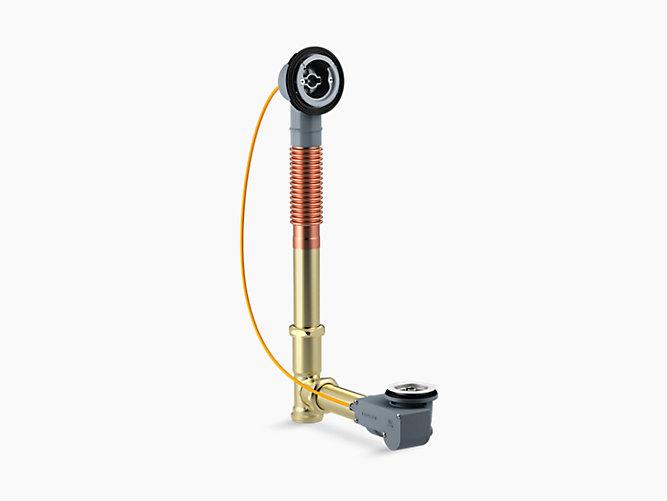 K 37380 Pureflo 30 Inch Rough In Cable Bath Drain Brass Kohler