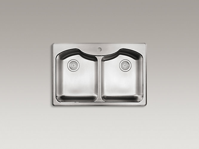 K 3842 1 Octave Double Equal Top Mount Sink W Single