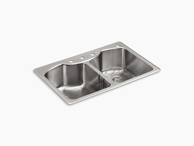 K 3842 4 Octave Double Equal Top Mount Sink With Four