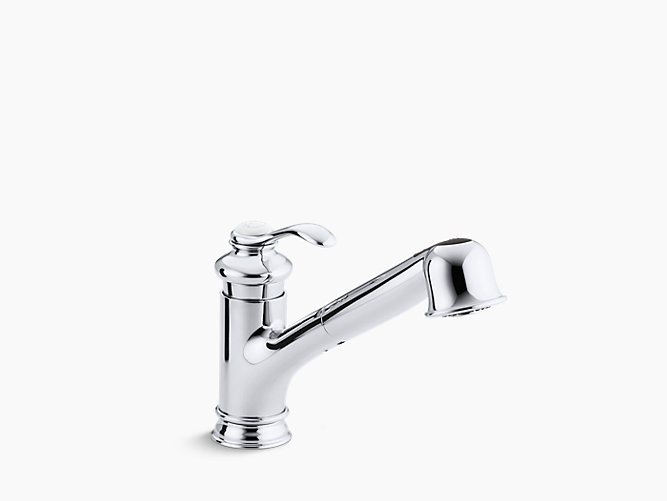 K Fairfax SingleHandle Pullout Kitchen Sink Faucet KOHLER - Kohler fairfax single hole bathroom faucet