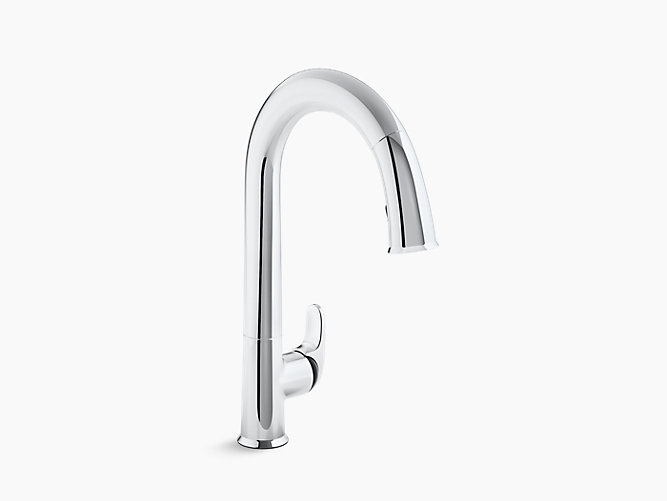 Sensate™ Touchless kitchen faucet with black accents, 15-1/2\
