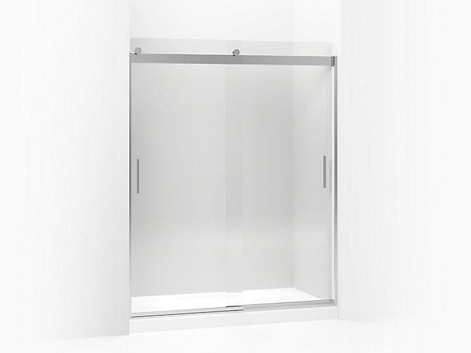 Levity frameless sliding shower door k 706009 l kohler for Pros and cons of sliding glass doors