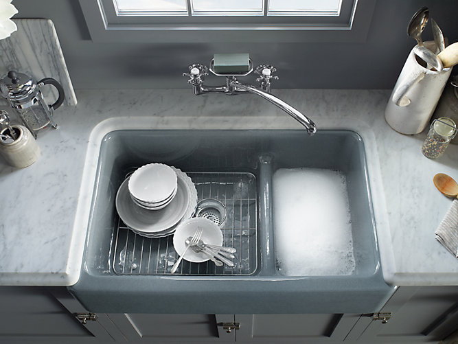Whitehaven's single bowl sink offers plenty of room for oversize pots and  pans. For those who prefer double bowls, consider a Whitehaven sink with  Smart ...