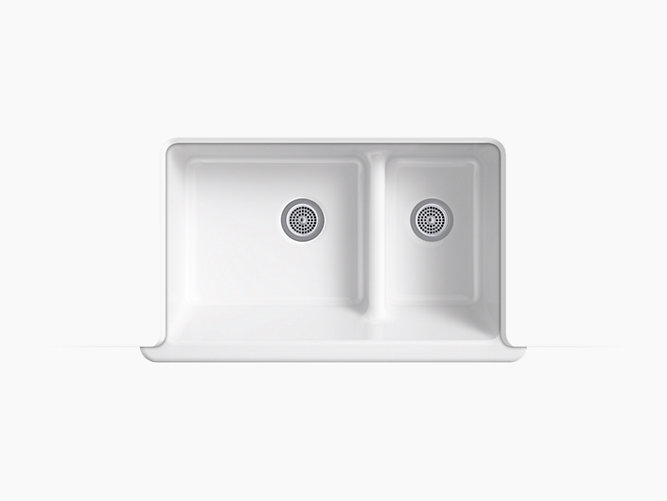 self cleaning sink k 6427 whitehaven self trimming smart divide 35 1116 x 21 9