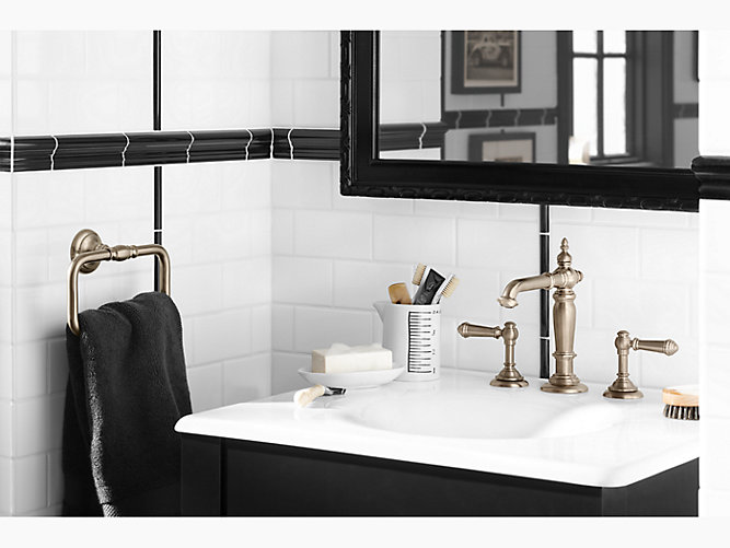IronImpressions Cast Iron Sink With Inch Centers K KOHLER - Cast iron bathroom fixtures