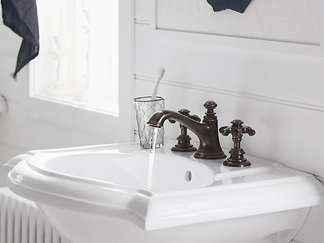Artifacts Bathroom Sink Prong Handles | K-98068-3M | KOHLER