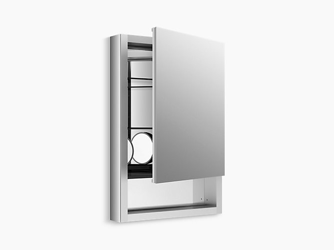 Bathroom Mirror Cabinet W Led Lights Adjustable Shelves: Verdera Medicine Cabinet With Quick-Access