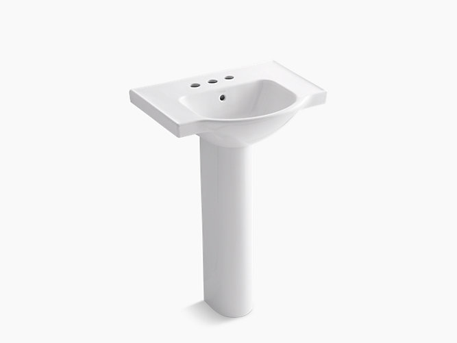 Veer Pedestal Sink With 4-Inch Centers