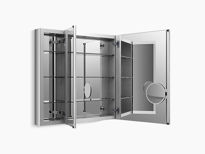 Verdera Medicine Cabinet With Triple Mirrored
