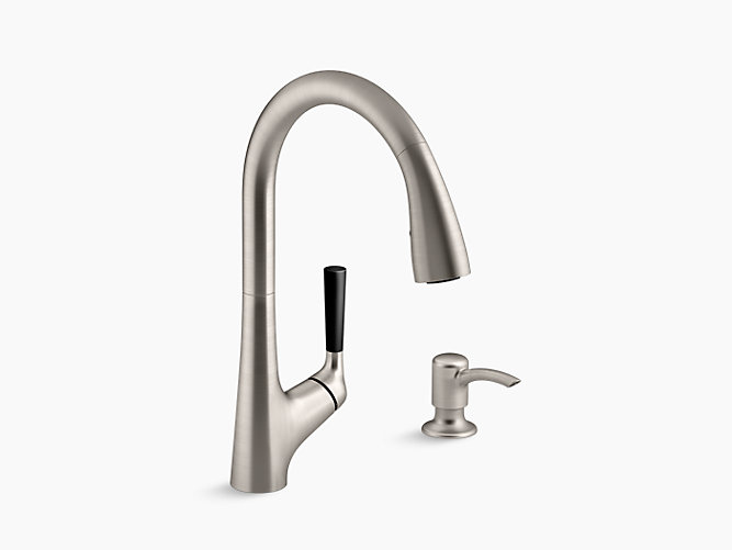 K R562 Sd Malleco Pull Down Kitchen Sink Faucet With Soap Lotion Dispenser Kohler