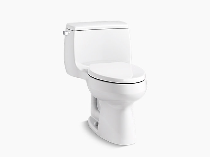 KOHLER|K-3615|Gabrielle One-Piece Compact Elongated 1.28-GPF Toilet ...