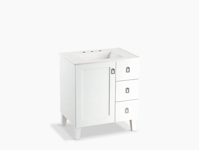 K 99530 Lgr Poplin 30 Inch Vanity, Bathroom Vanities 30 Inch With Drawers