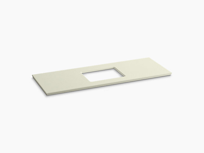 K 5459 Solid Expressions 61 Inch Vanity Top With Single Verticyl Rectangular Cutout Kohler