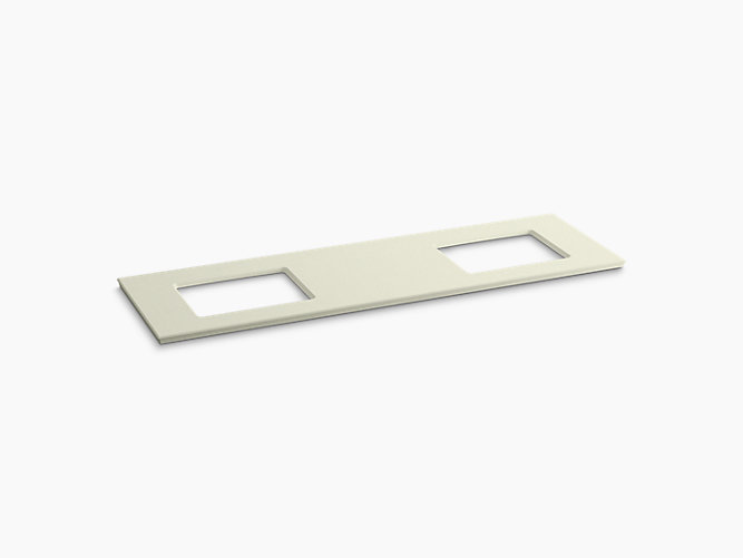 K 5462 Solid Expressions 73 Inch Vanity Top With Double Verticyl Rectangular Cutout Kohler