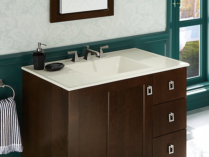 K-2781-8 | Ceramic/Impressions 37-inch Rectangular Vanity-Top ...