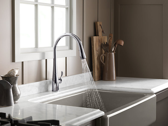 Simplice Single Hole Or Three Hole Kitchen Sink Faucet
