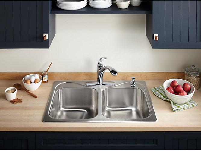 K 10433 Forte Single Handle Pull Out Spray Kitchen Sink Faucet Kohler