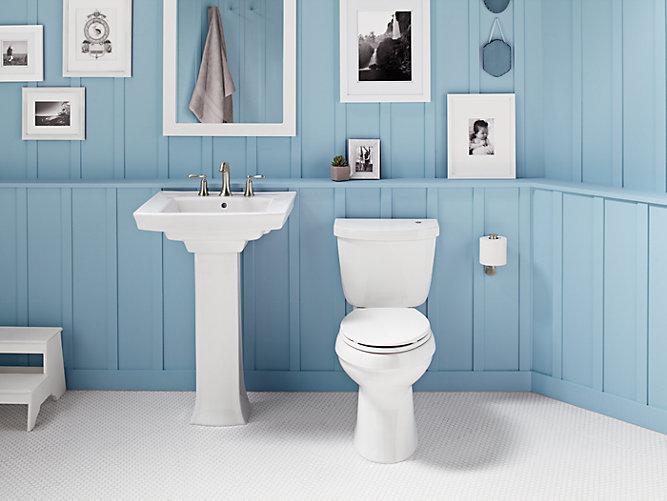 Cimarron Elongated Touchless Toilet, 1.28 GPF   K-99249   KOHLER