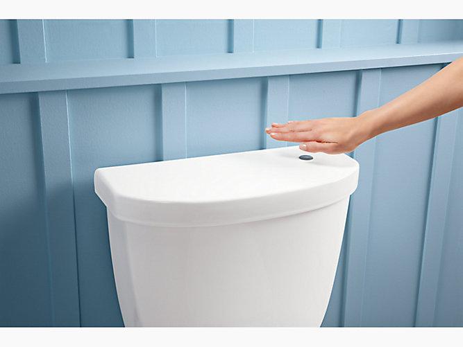 Cimarron Round-Front Touchless Toilet, 1.28 GPF   K-6419   KOHLER