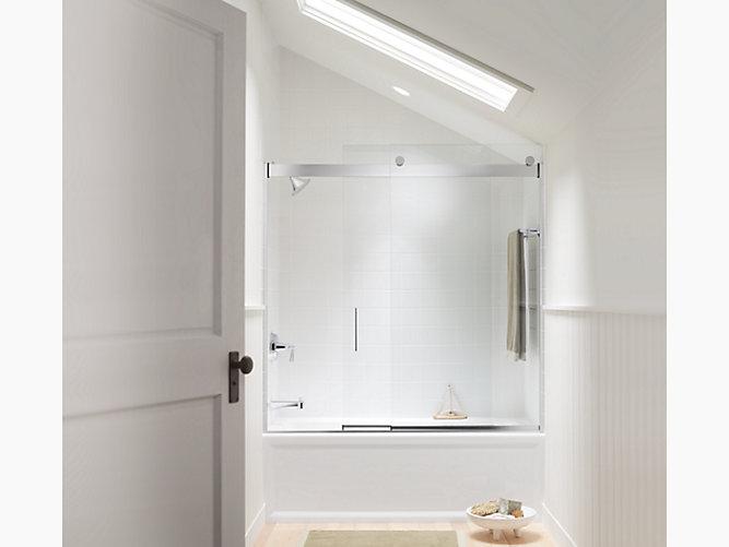 K 706002 L Levity Frameless Sliding Bath Door Kohler