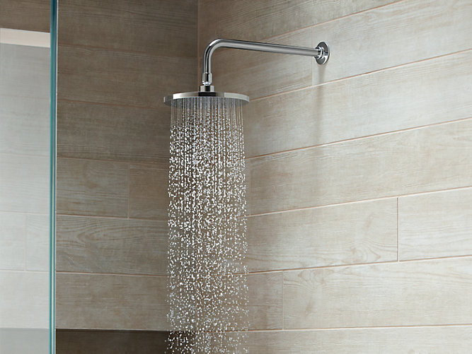 K-13688 | 8-Inch Contemporary Round Rain Showerhead, 2.5 GPM | KOHLER