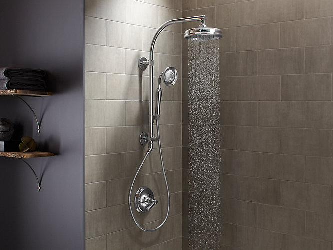 K 45211 Hydrorail R Shower Column With Arched Arm Kohler