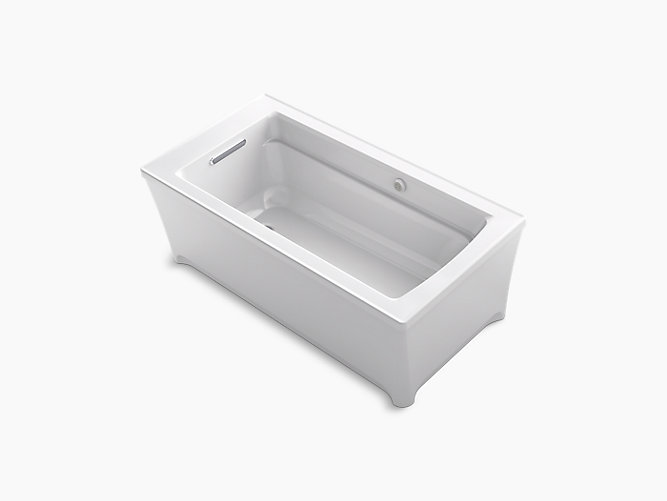 Archer 62-In Freestanding BubbleMassage Bath | K-2593-G | KOHLER