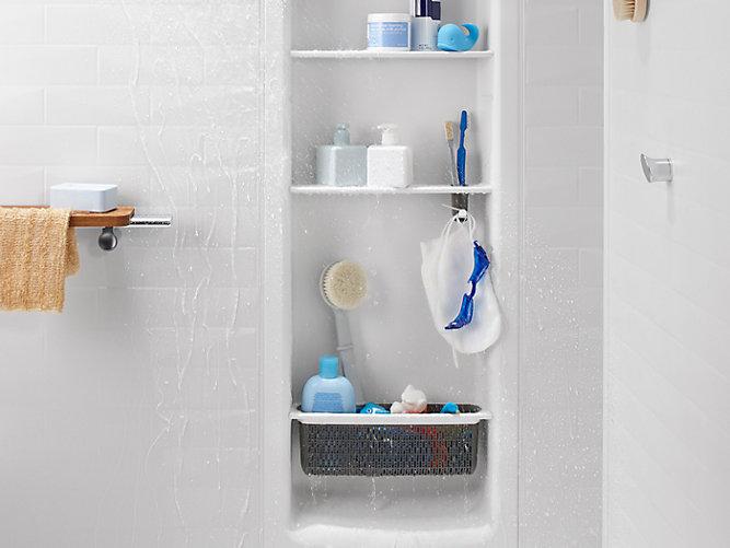 dp k tray amazon choreograph na shelf shower kohler teak com