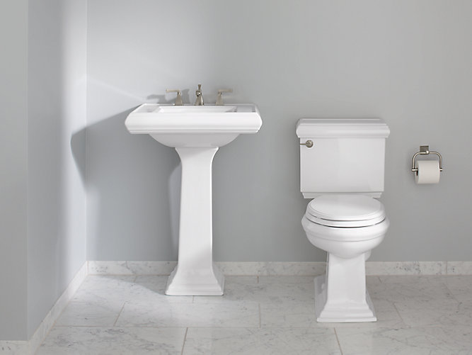Memoirs Pedestal Sink With Classic Design 8 Inch Centers