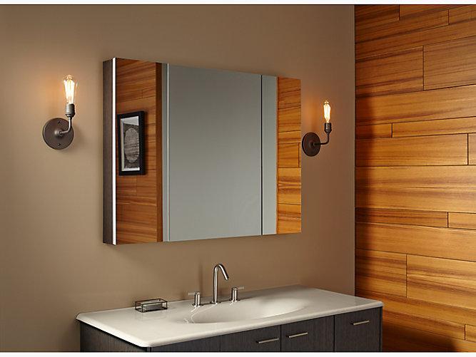 K 99010 Verdera Medicine Cabinet With Triple Mirrored Doors Kohler