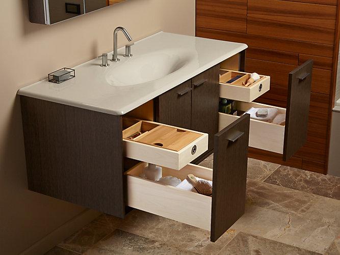 K 99544 jute 48 inch vanity with 2 doors 2 drawers kohler - Replacement drawers for bathroom vanity ...