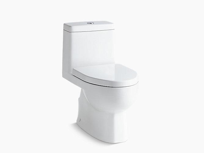 K-3983-S   Reach® skirted one-piece compact elongated dual-flush ...