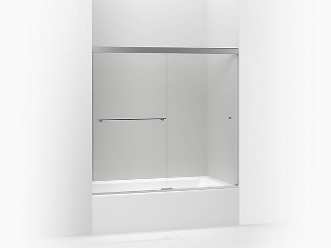 K 707000 L Revel Frameless Sliding Bath Door Kohler