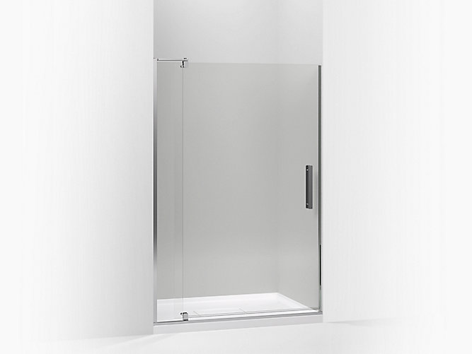 Revel Pivot Shower Door 74 H X 43 1 8 48 W With 5 16 Thick Crystal Clear Gl