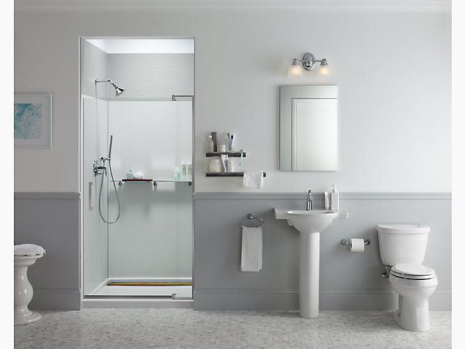 K 707556 L Revel Frameless Pivot Shower Door Kohler