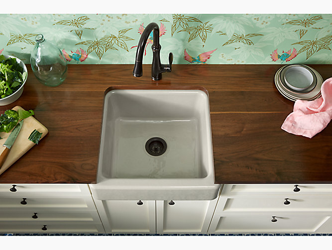 K 5664 Whitehaven Self Trimming 23 1 2 X 21 9 16 X 9 5 8 Under Mount Single Bowl Sink With Short Apron Kohler