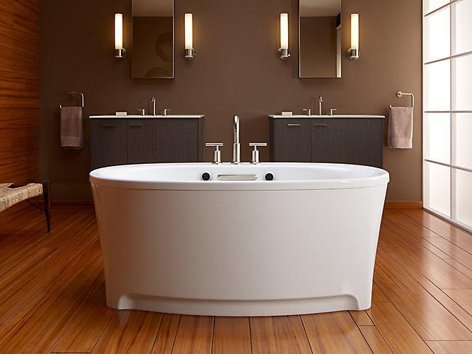K-5702-GW | Underscore 5-Ft BubbleMassage Bath with Bask | KOHLER