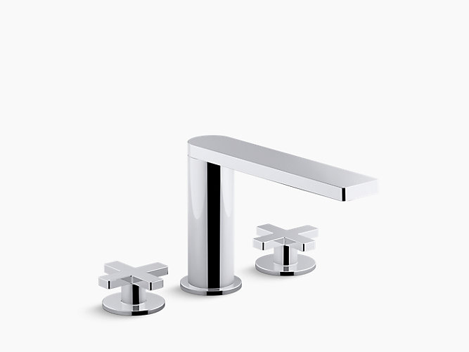 K-73081-3 | Composed Deck-Mount Bath Faucet with Cross Handles ...