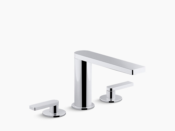 K-73081-4 | Composed Deck-Mount Bath Faucet with Lever Handles ...