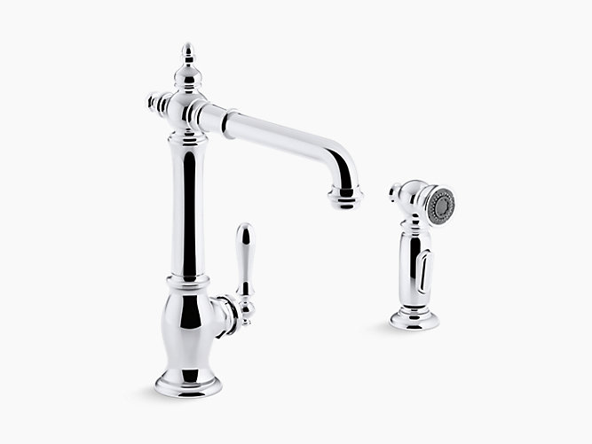 Artifacts® 2-hole kitchen sink faucet with 13-1/2\